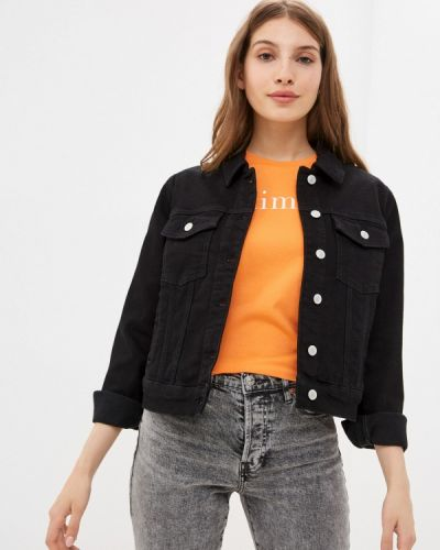 Черная джинсовая куртка Selected Femme