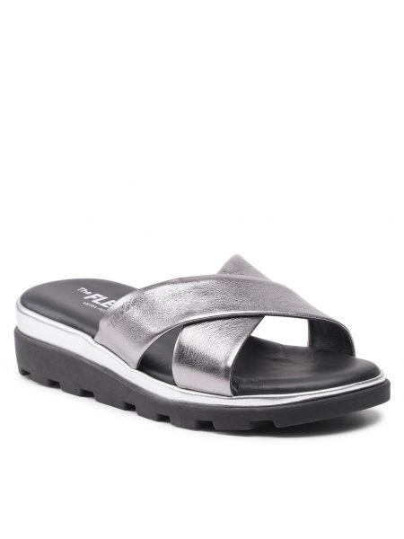 Sandały srebrne The Flexx