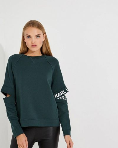 Зеленый свитшот Karl Lagerfeld