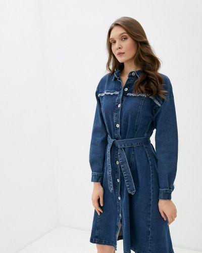 Синее джинсовое платье Ichi