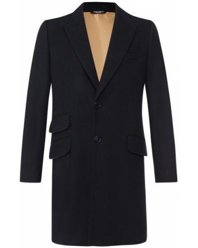 Пальто однобортное шерстяное Dolce & Gabbana