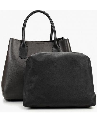 Кожаная сумка серая итальянский Madeleine