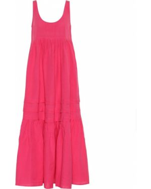 Льняное розовое платье макси Solid & Striped