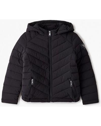Теплая черная куртка Guess