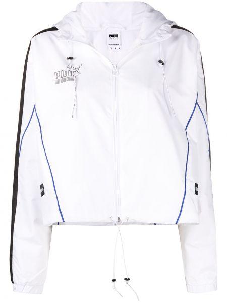 Белая спортивная куртка с капюшоном на молнии Puma