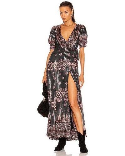 Платье макси - черное Hemant And Nandita