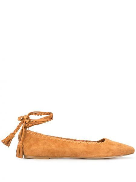 Кожаные балетки с квадратным носком Mara & Mine