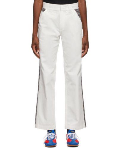 Брючные прямые белые прямые брюки с поясом Rassvet