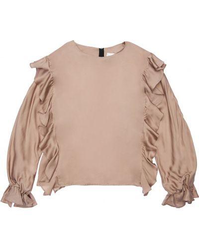 Różowa satynowa koszula Unlabel