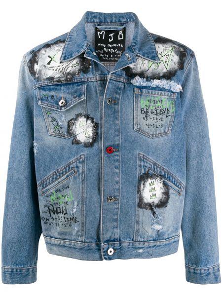 Niebieskie jeansy bawełniane perły Mjb Marc Jacques Burton