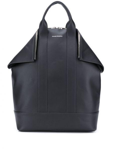 Skórzany plecak z kieszeniami Alexander Mcqueen