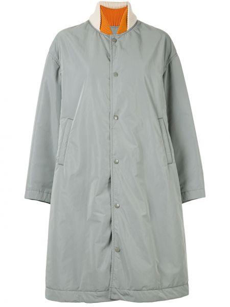 Комбинированное длинное пальто с капюшоном Undercover