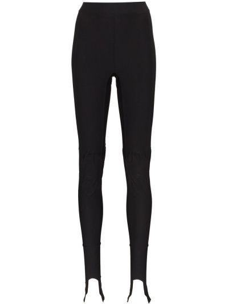 Czarne legginsy z wysokim stanem z nylonu Ambush