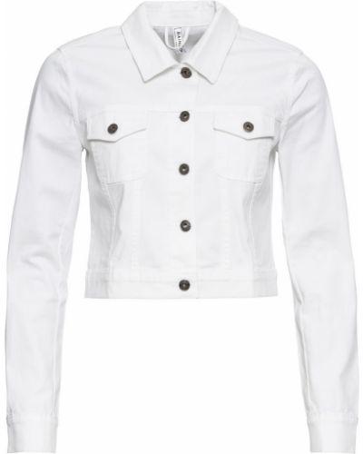 Джинсовая куртка белая Bonprix