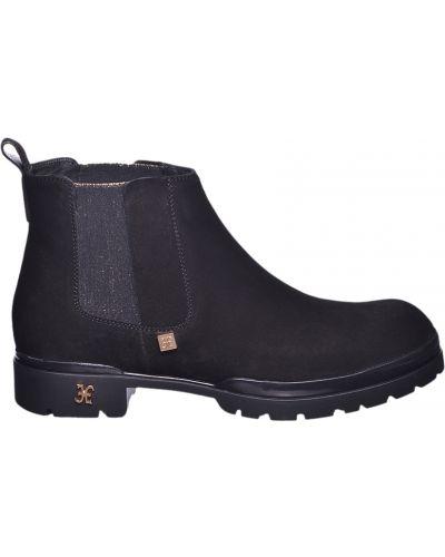 Черные замшевые ботинки Fabi