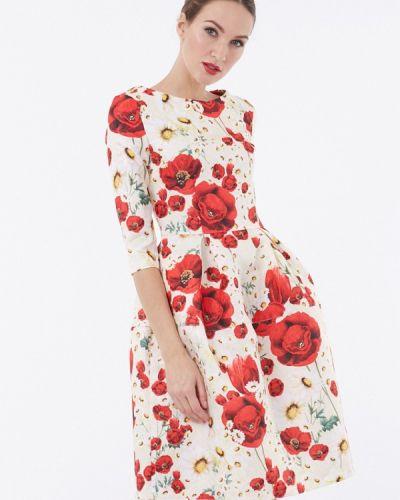 Белое платье миди Vladi Collection