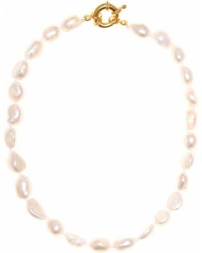 Ожерелье с жемчугом белый позолоченное Timeless Pearly
