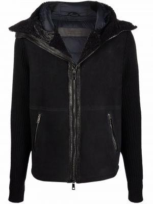 Czarna kurtka wełniana Giorgio Brato