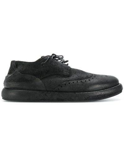 Кожаные ботинки на толстой подошве броги Marsèll