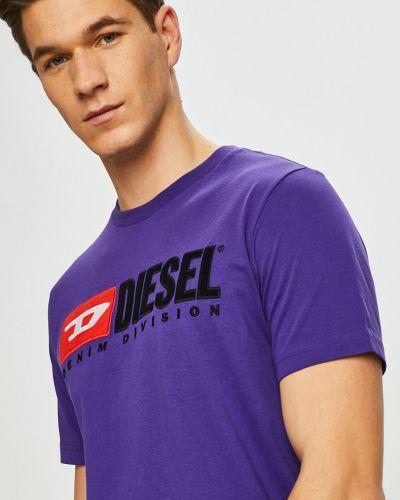 Футболка с принтом хлопковая Diesel