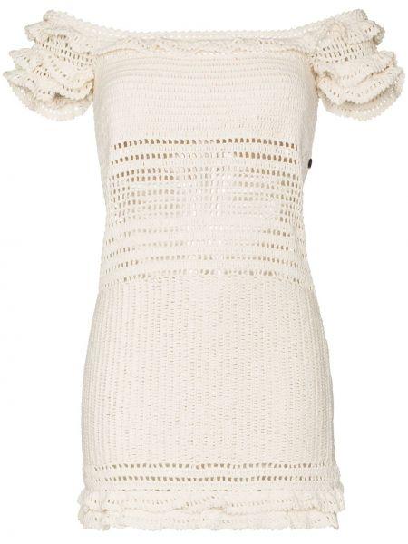 Открытое белое платье мини без рукавов She Made Me