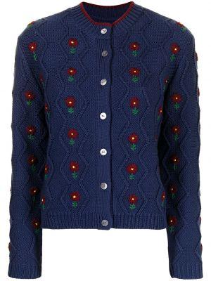 Niebieski sweter z haftem Shrimps