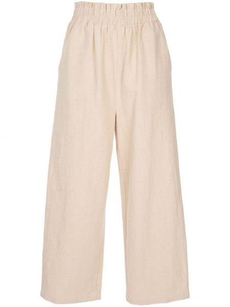 Прямые укороченные брюки с воротником с карманами с высокой посадкой Auguste