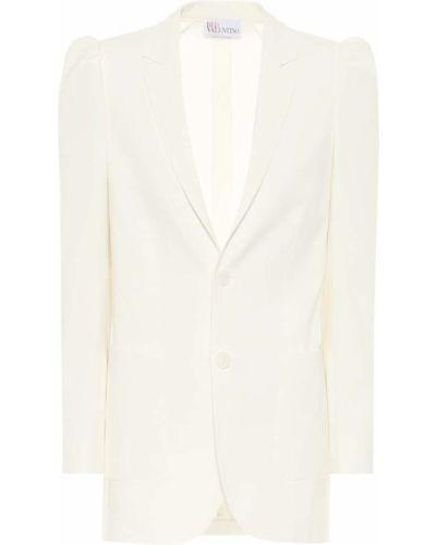 Шерстяной белый пиджак двубортный Redvalentino