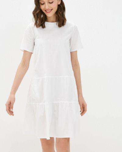 Прямое белое платье А-силуэта Savage