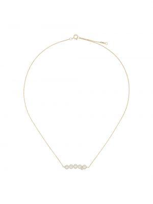 Biały złoty naszyjnik perły Persée