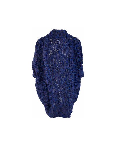 Вязаный кардиган крупной вязки синий Patrizia Pepe