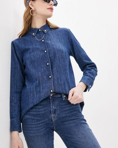 Синяя джинсовая рубашка 7 For All Mankind