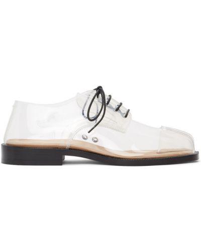 Кожаные лоферы на каблуке на шнурках Maison Margiela