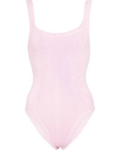 Нейлоновый купальник - розовый Hunza G