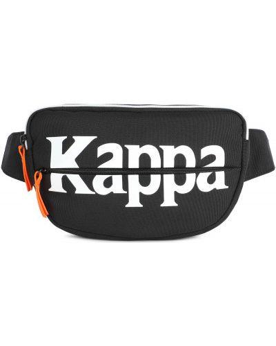 Черная поясная сумка с поясом Kappa