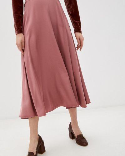 Брендовая розовая юбка свободного кроя Lipinskaya Brand