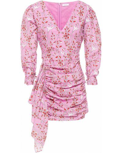 Różowa sukienka mini bawełniana Rhode