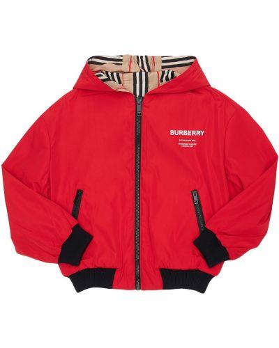 Nylon kurtka z kieszeniami Burberry