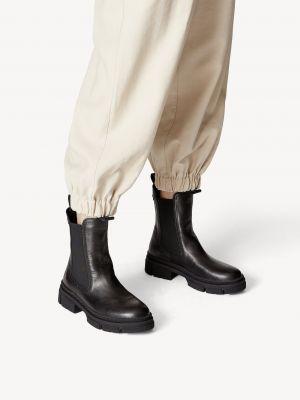 Кожаные ботинки челси - черные Tamaris