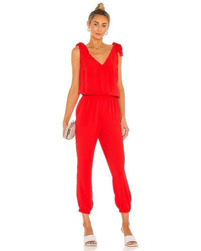 Шелковый спортивный костюм - красный Amanda Uprichard