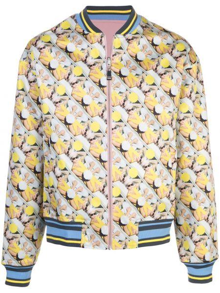 Prążkowana żółta kurtka srebrna Rochambeau