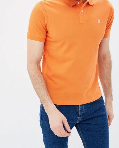 Поло оранжевый Cortefiel
