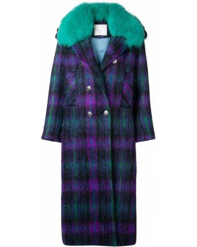 Синее шерстяное пальто Giada Benincasa