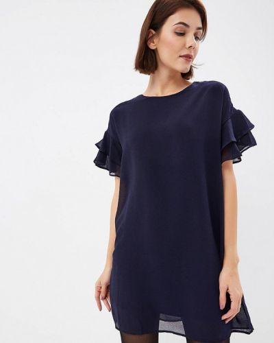 Платье осеннее синее Art Love