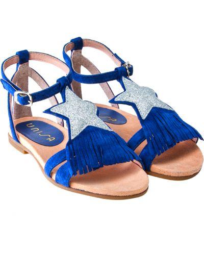 Синие пляжные босоножки Unisa