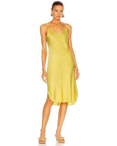 Платье с американской проймой - желтое Nili Lotan