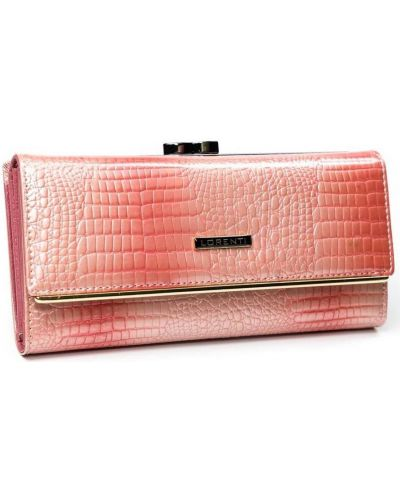 Różowy portfel skórzany Lorenti