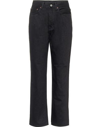 Czarny prosto bawełna bawełna jeansy na wysokości Acne Studios