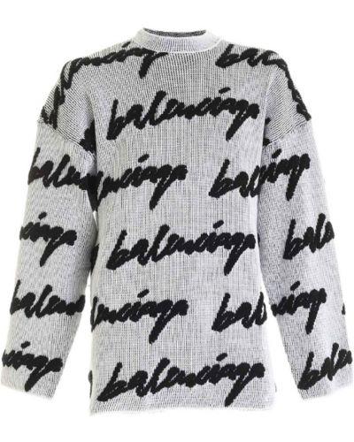Sweter - biały Balenciaga