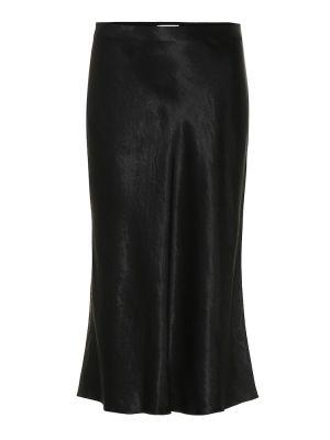 Сатиновая юбка миди - черная Vince.